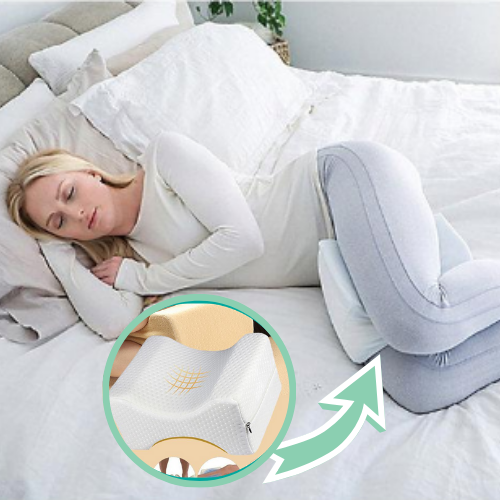 Project Lvl Online Store 40603 Orthopedic Knee Leg Pillow Sciatica Relief, Back Pain, Leg Pain, Pregnancy, Hip and Joint Pain - Memory Foam Wedge Contour