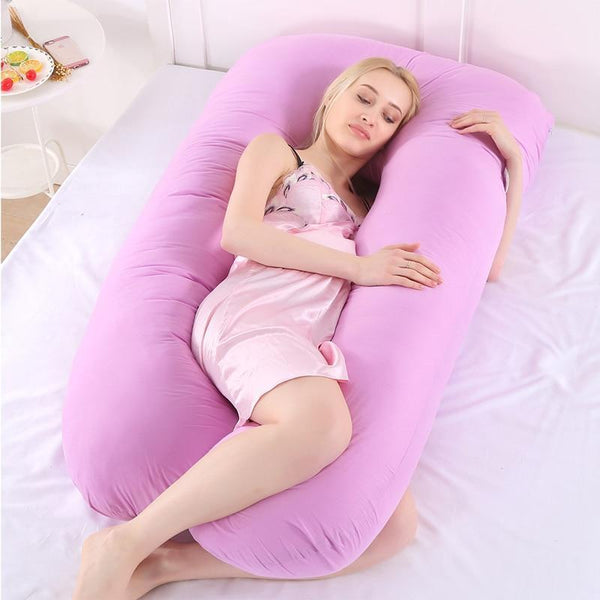 Project Lvl Online Store 40603 Pregnancy Pillow Side Sleeper Pregnant Women Bedding Full Body U-Shape Cushion Long Sleeping Multifunctional Maternity Pillows