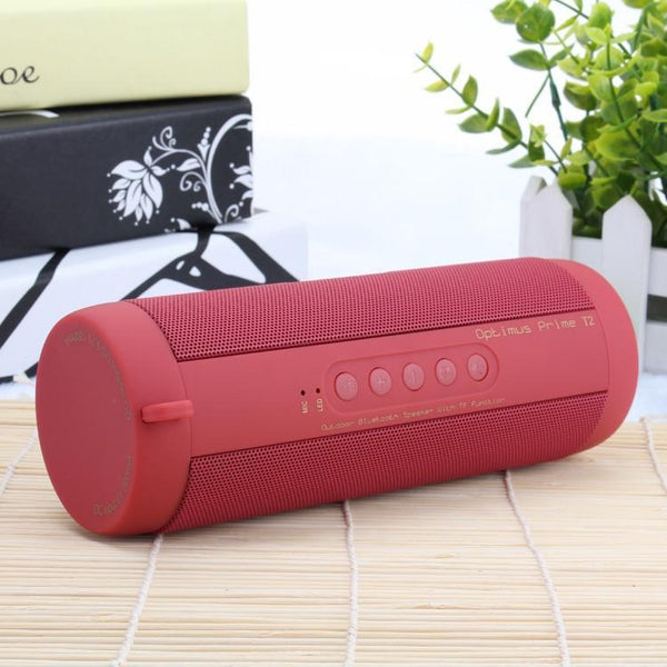 Project Lvl Online Store 518 China / Red T2 Bluetooth Waterproof Portable Outdoor Speaker