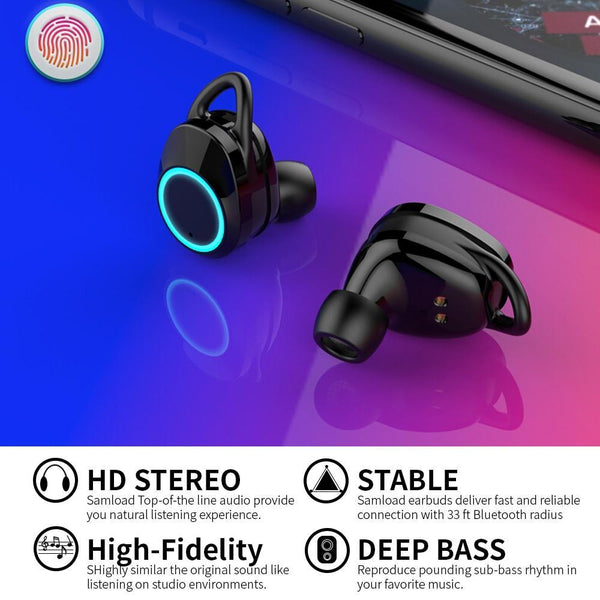 Waterproof Bluetooth Headphones Earbuds 5.0 Sweatproof For Sports, Running, And Swimming - Project Lvl Online Store