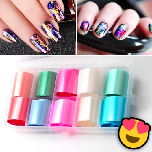 Glitter Glam - Nail Art Stickers Set - Project Lvl Online Store
