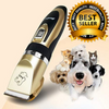 SUNNY & BUSH Dog Hair Trimmers Gold Full Kit Professional Dog Clippers Rechargeable Trimmer Shears Set For Dogs And Cats