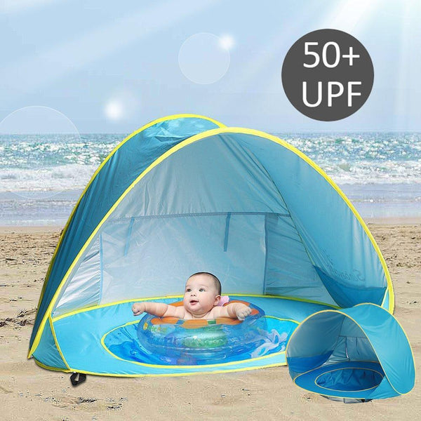 Baby Beach Tent UV-Protecting Sunshelter with Pool Waterproof Pop Up Awning Tent Children's Tent - Project Lvl Online Store