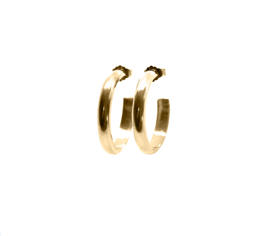 SIMPLE, Mellem hoops, store, guld - BY MARIA BUUR
