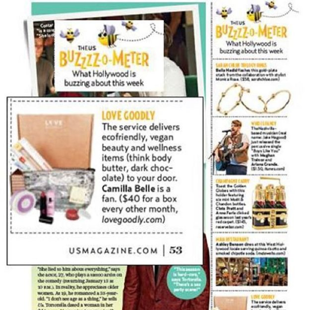Us Weekly Buzz-o-meter Features LOVE GOODLY!