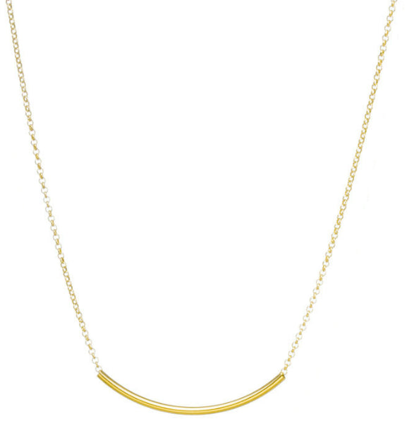 Dogeared Balance Tube Necklace Gold