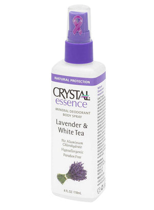 Crystal Essence Mineral Deodorant Spray Lavender and White Tea