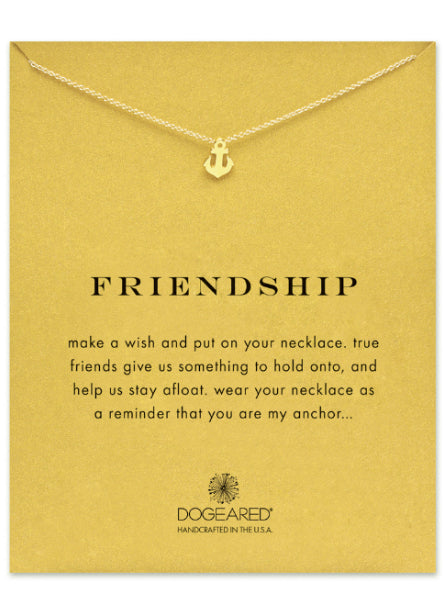 Dogeared Friendship Smooth Anchor Necklace