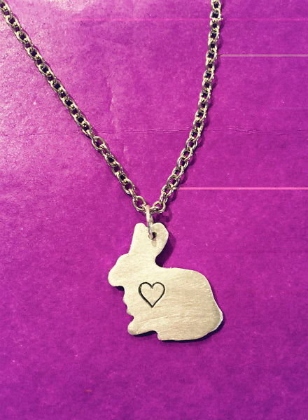 Exclusive Christy Robinson Mini Bunny Necklace with Heart