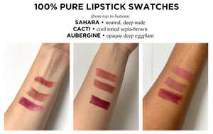 100% Pure Fruit Pigmented Cocoa Butter Matte Lipstick in Sahara