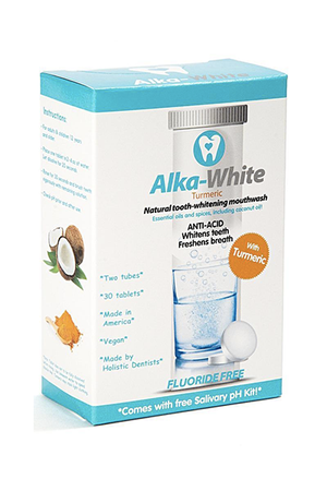 Alka-White Alkaline Mouthwash Tablet in Turmeric