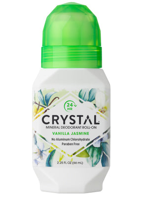 Crystal Essence Mineral Deodorant Roll-on Jasmine Vanilla