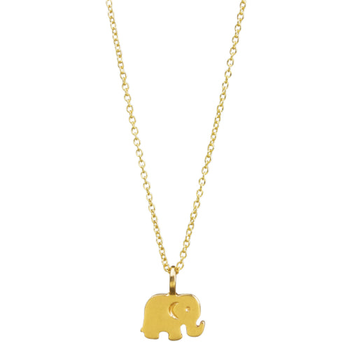 Dogeared Good Luck Elephant Necklace Gold
