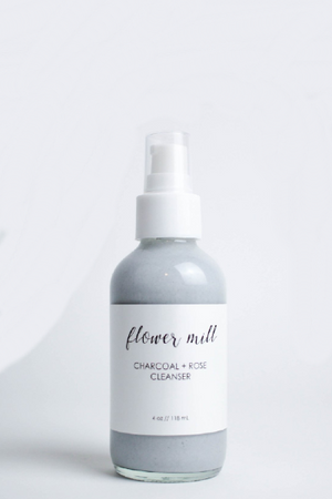 Flower Mill Beauty Charcoal + Rose Foaming Cleanser