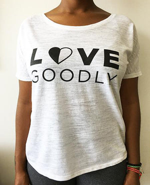 LOVE GOODLY Logo Tee in White