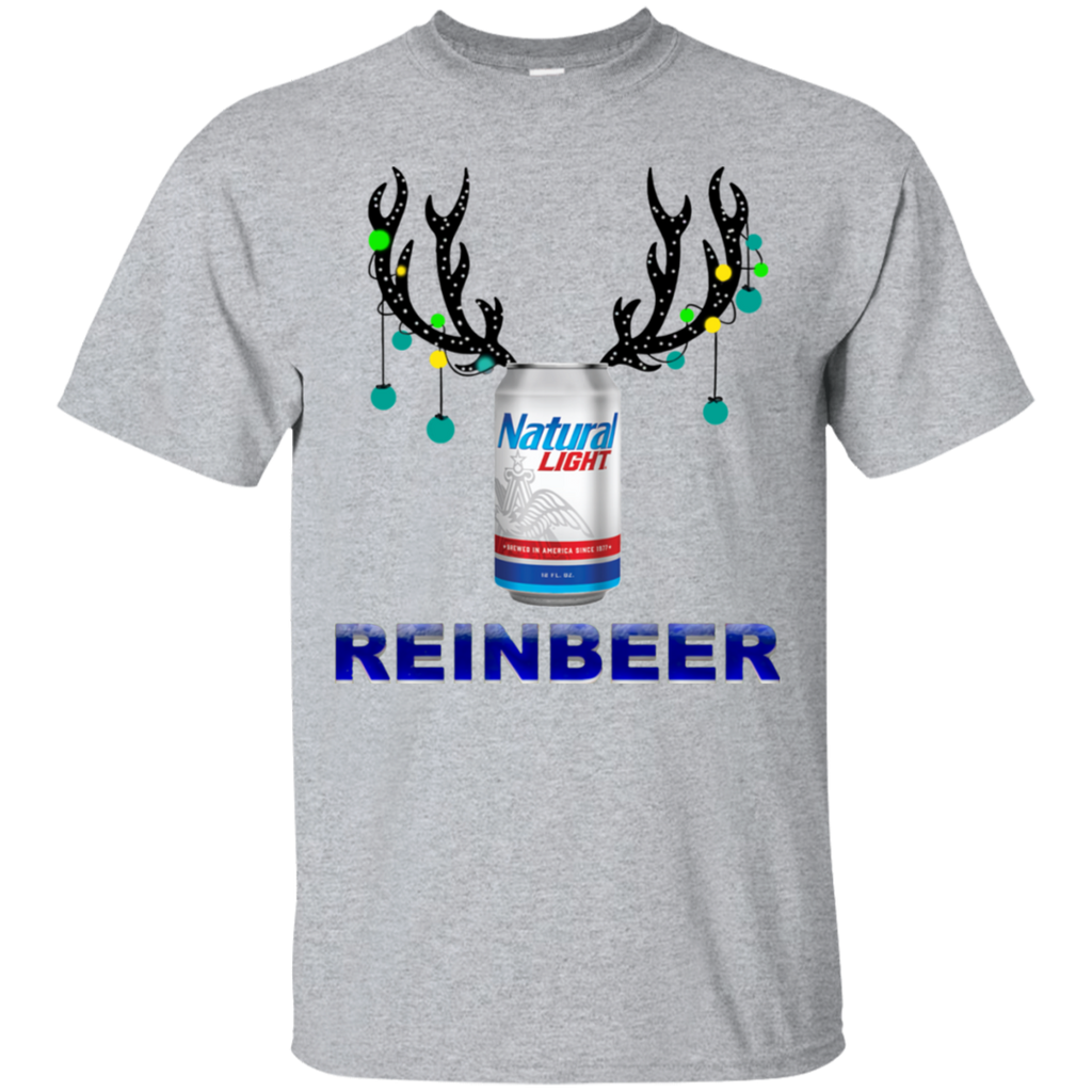Natural Light Reinbeer Christmas Sweatshirt Salalashirt