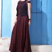 BANGLORY SILK WITH THREAD WORK GOWN