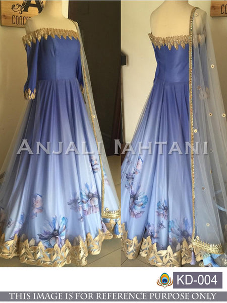 TEXTILE MALL DESIGNER BRIDAL WOMEN ANARKALI GOWN
