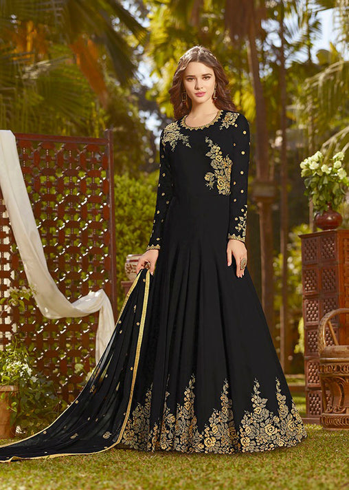 This Designer Floor Length Suit In Brown Color Paired With Brown Colored Bottom And Dupatta.