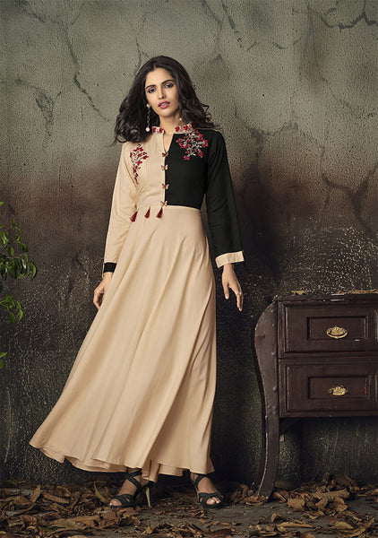 Simple and Elegant Looking Designer Readymade Gown Is Here In Peach