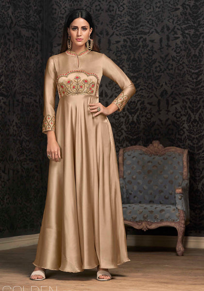 Rich And Elegant Looking Designer Readymade Gown