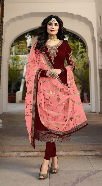 Grab This Heavy Designer Straight Cut Suit With Pretty Attractive Dupatta.
