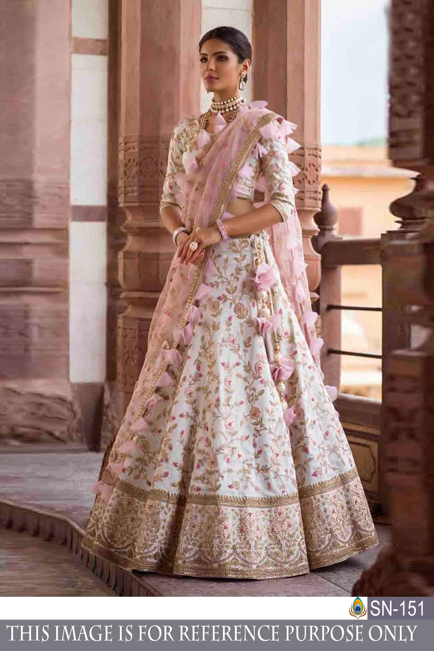 Designer Attractive Multicolor Bangloti Silk Thared Work Lehenga Choli
