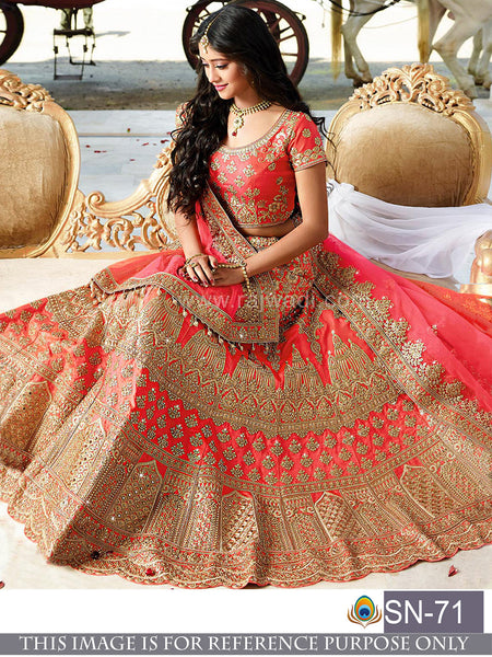 Red Color Designer Silk Lehenga Choli