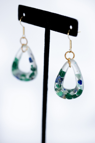 Nature Encapsulated Droplets [Malachite/Amazonite/Lapis Lazuli]
