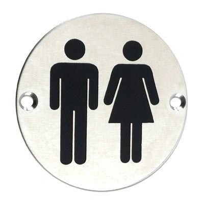 Stainless Steel Signage-Unisex
