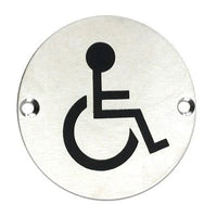 Stainless Steel Signage-Disabled
