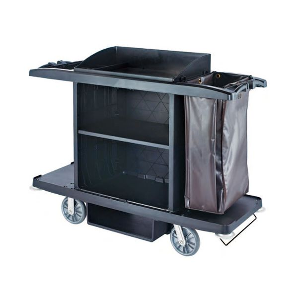 LONDON Housekeeping Cart BLACK