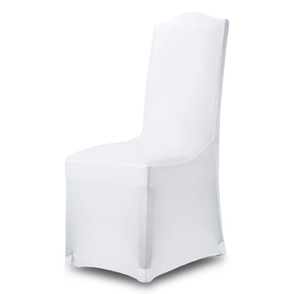 Banquet Chair Cover Stretch Fit Spandex White 320gsm 6PK