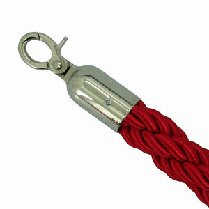 BARRIER ROPE -RED/CHROME 1.5M