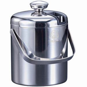 Stainless Steel Ice Bucket with Concealed Tong