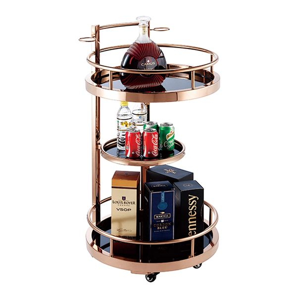 AUDREY Drinks Trolley Rosegold