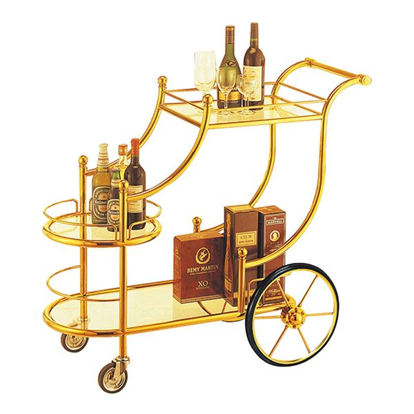 FAIRLADY Drinks Trolley Gold