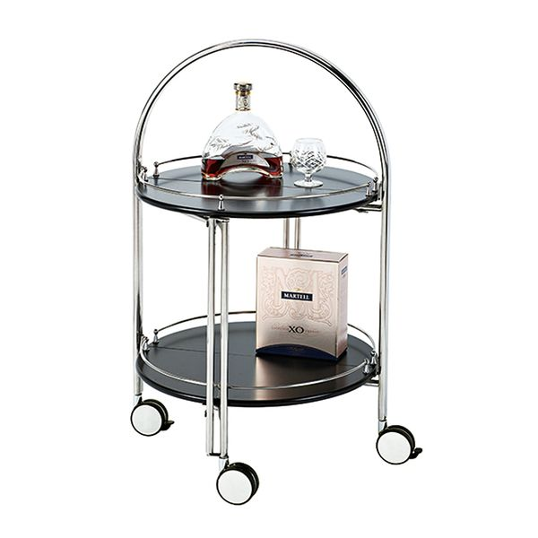 YOKONO Foldable Drinks Trolley Chrome