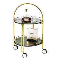 YOKONO Foldable Drinks Trolley Gold