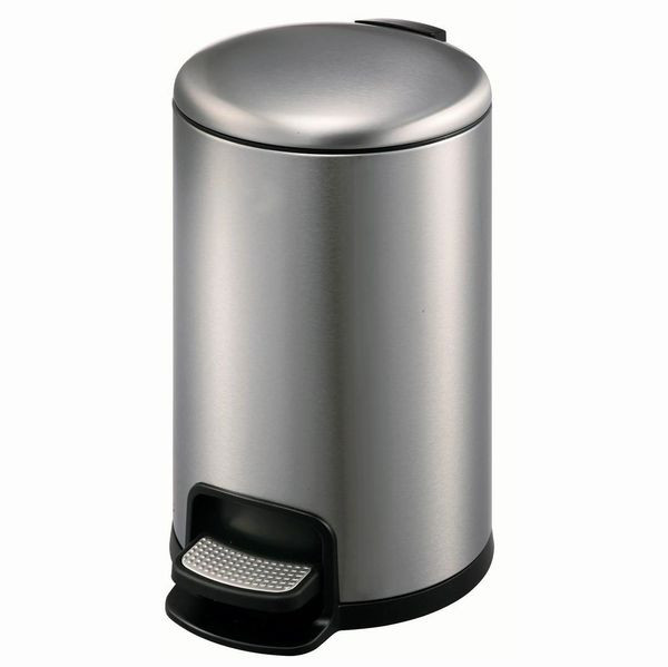 ROUND Pedal Bin Soft Close 3L Chrome