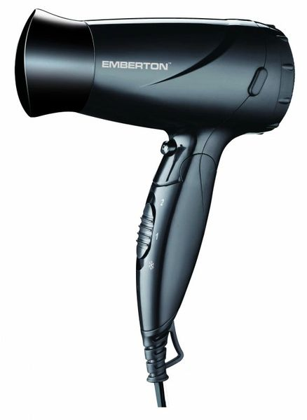 HARROW Folding Hairdryer 1600W Black
