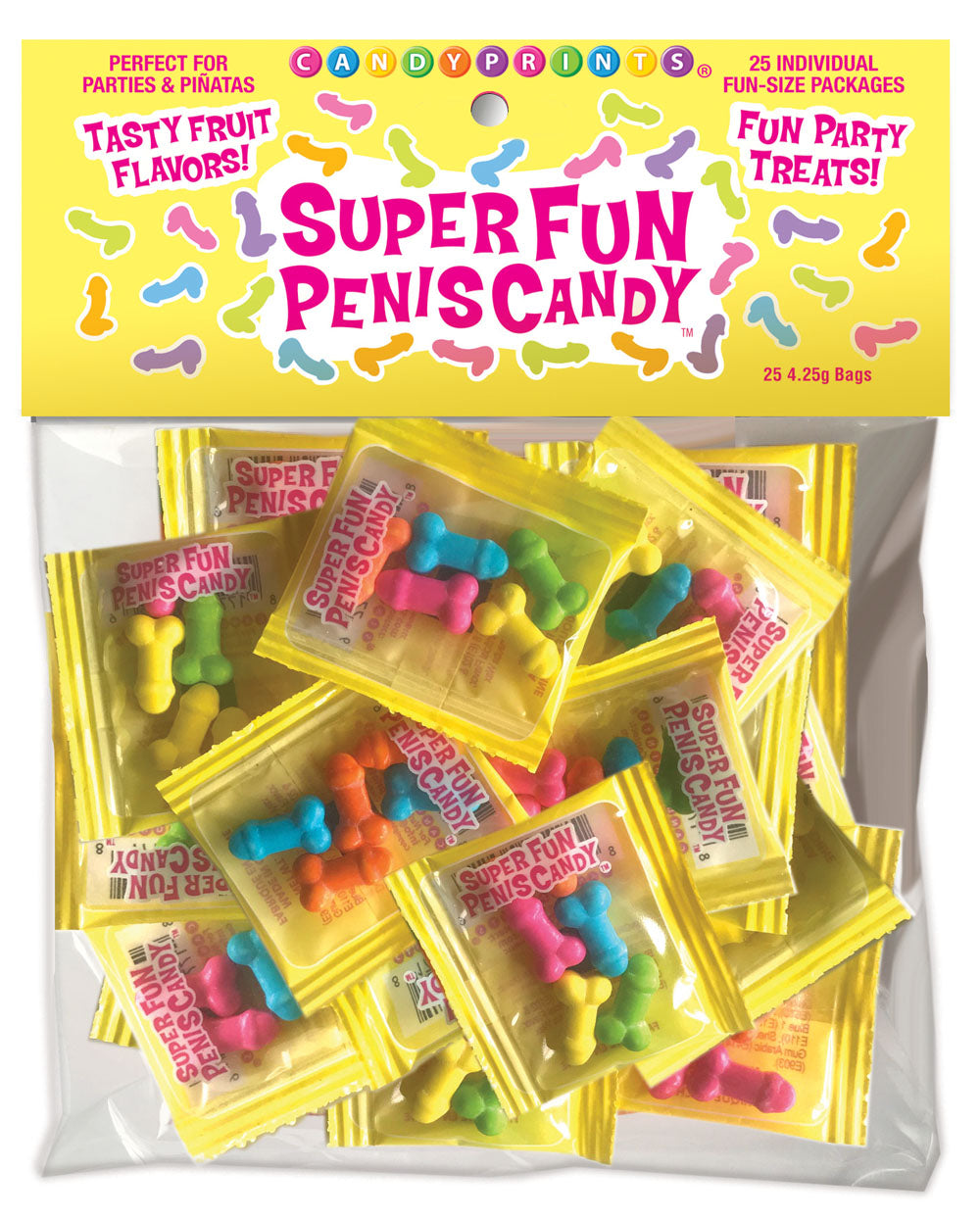 Super Fun Penis Candy 25 Individual Fun-Size Packages -Party Supplies