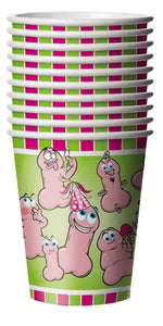 Wild Willys Party Cups - 10 Count - Penis Cups - Party Supplies