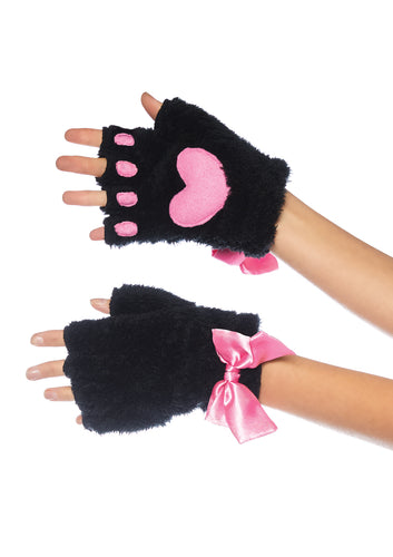 Adult Cat Paw Gloves Costume Accessory - Black - Cosplay - Fantasy Fest