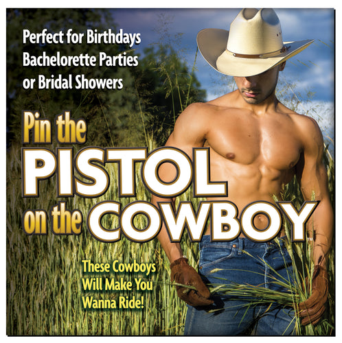 Pin the Pistol on the Cowboy - Bachelorette Party Game