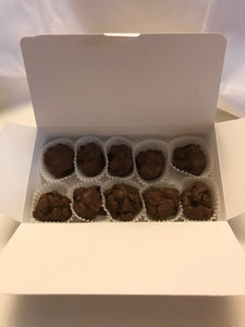 Chocolate Clusters - Triple Threat Clusters - Peanut, Raisin and Toffee Chocolate Clusters - Gourmet Candy
