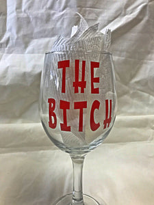 Wine glass set for the Ladies - Girls Night Out set of 4  Custom Glasses - Burlesque China