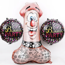 Penis Balloon with Bachelorette Party balloons - PartySupplies