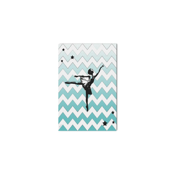 "DANCER,Framed Canvas Print 12"" x 8"",in Sea Foam or Multi Color-[stardust]"