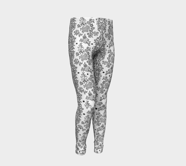 Lace N Stars White Rco friendly Leggings
